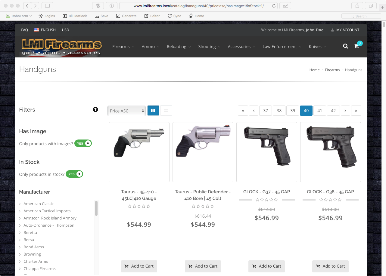 My FFL Cart An Online Shopping Cart Created Exclusively For - Invoice sample word document gun store online